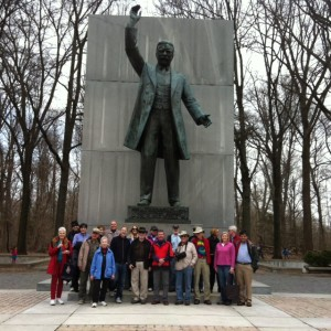 Group at TR statue